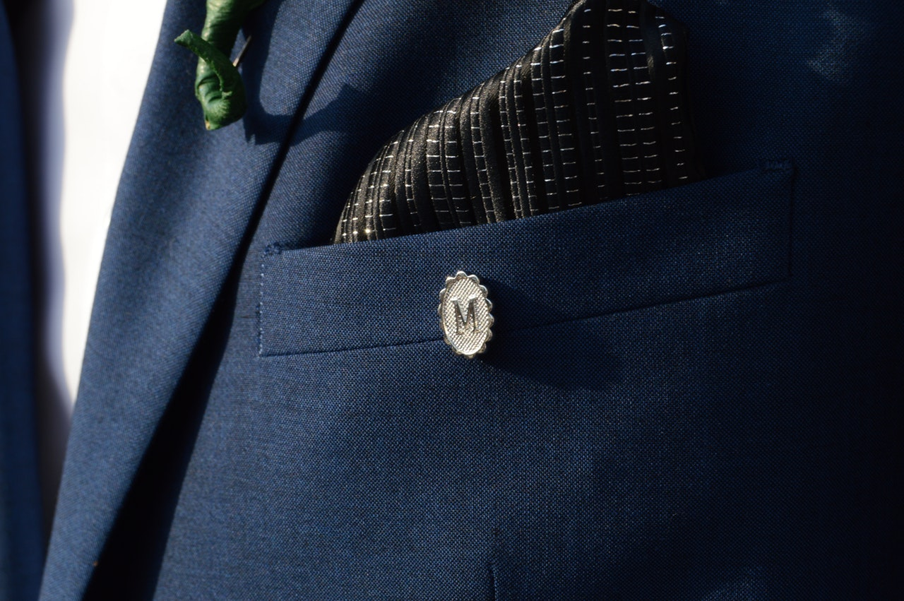 pocket square in use