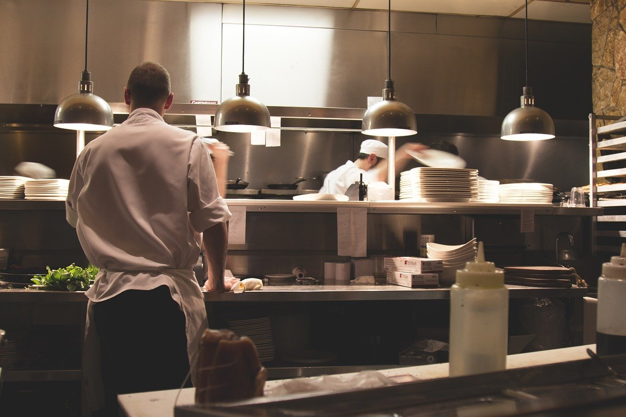 men working in the kitchen